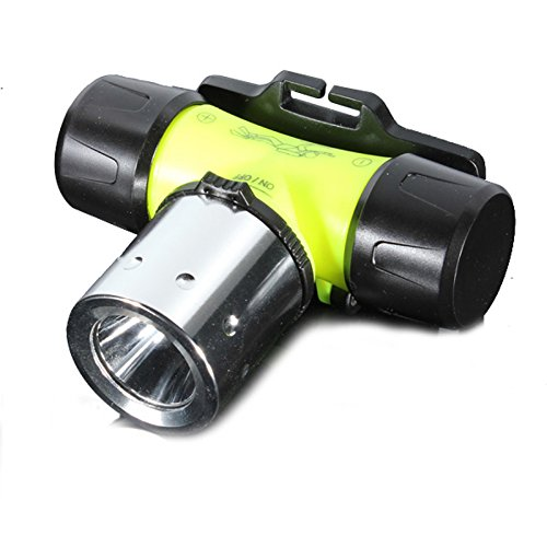 Diving Headlamp Head Torch Dive - Genwiss Light Head Lamp 800 Lumens CREE XML T6 LED Headlight Waterproof Underwater Rechargeable Flashlight for Camping Biking Working Hunting Fishing Riding - Brighteyes Hat Top