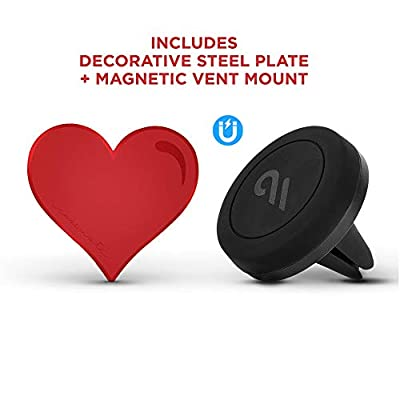 Case-Mate - Car Charms - Decorative Metal Plate + Car Vent Mount - Red Heart