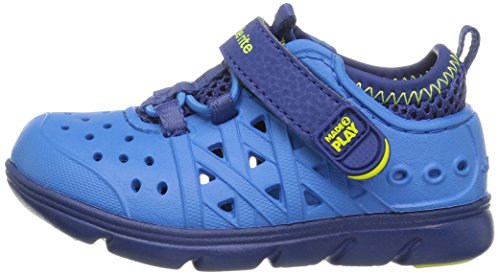 Stride Rite Made 2 Play Phibian Sneaker Sandal Water Shoe (Toddler/Little Kid/Big Kid), Blue, 10 M US Toddler