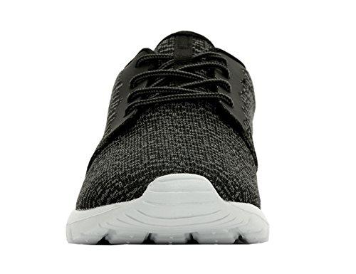 CrossHatch - Zapatillas de Lona para hombre negro