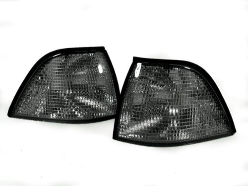 REVi MotorWerks Smoke Corner Signal Light by DEPO fit for 1992-1999 BMW E36 2D - Lights Bmw Depo