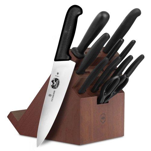 Victorinox Utility Shear - Victorinox Forschner Fibrox 12-piece Walnut Swivel Knife Block Set