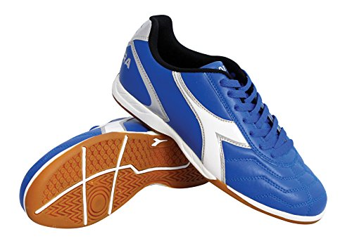 Diadora Men's Capitano ID Polyurethane Soccer Cleats (9 D(M) US Men, Royal/White/Silver)
