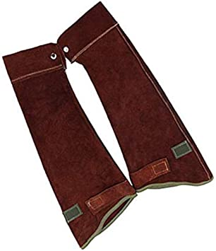 Cowhide Leather Welding Sleeves For Arms Guard Flame Resistant Brown
