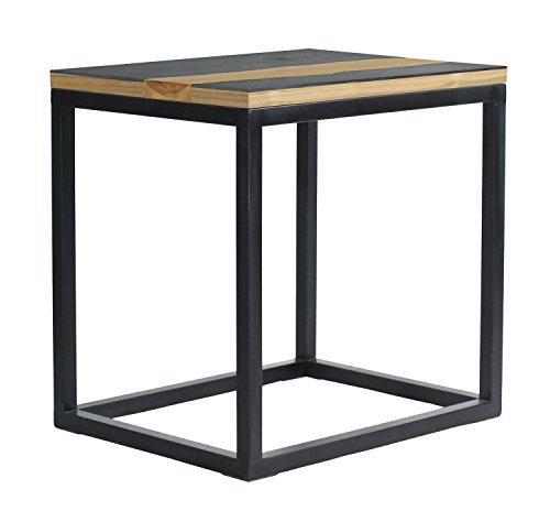 Asta Studio-15 Teak/Iron End Table, GT-315/BLK