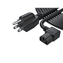 [UL Listed] Pwr+ NEMA 5-15P to IEC320C13 Extra Long 25 Ft (7.6 meters) 3 Prong AC Power Cord for ION iPA76C iPA76A iPA76S IPA23 Block Rocker, Block Party & Live, Job Rocker, Explorer Bluetooth Portable Speaker System Cable Plug L-Type