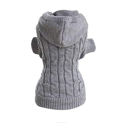 Ropa Linda del Animal Doméstico, Suéter Clásico del Animal Doméstico, Suéter Encapuchado del Perro,Gray,M