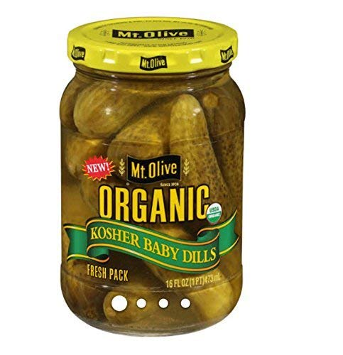Organic Dill Pickles - Mt. Olive Organic Kosher Baby Dills, 16 oz