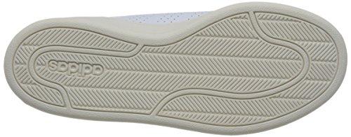 adidas Damen Cloudfoam Advantage Clean Sneaker Weiß (Footwear White/footwear White/ray Pink)