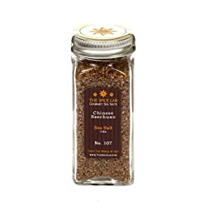 Chinese Szechuan Pepper Sea Salt - Hot - in Spice Bottle - Packaged by TheSpiceLab Inc.