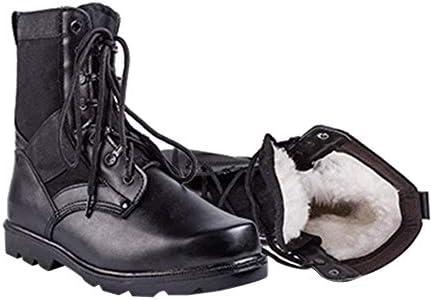 メンズ秋と冬のブーツ - アウトドアウォームミリタリーブーツトレーニングシューズ