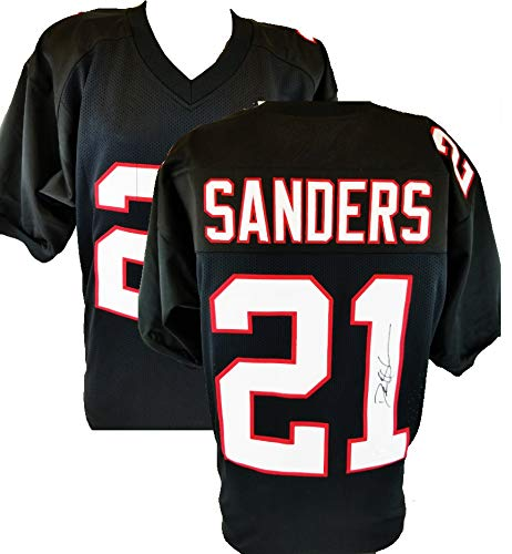 1b5148ea5 Image Unavailable. Image not available for. Color  Authentic Deion Sanders  Autographed Signed Custom Black Jersey (JSA Witness COA)