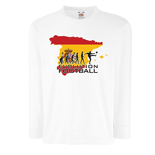 T-Shirt For Kids Evolution Football - Spain (9-11 Years White Multi Color)