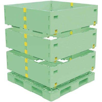 トラスコ マルチステージコンテナ 3段 1100×1100 緑 ※取寄せ品 TMSC-S1111-GN B01CH9YCRI