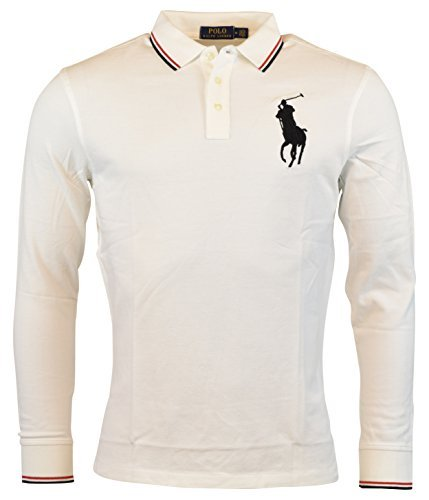Ralph Lauren Pony (Polo Ralph Lauren Men's Big Pony Classic Fit Polo Shirt (XL, White))