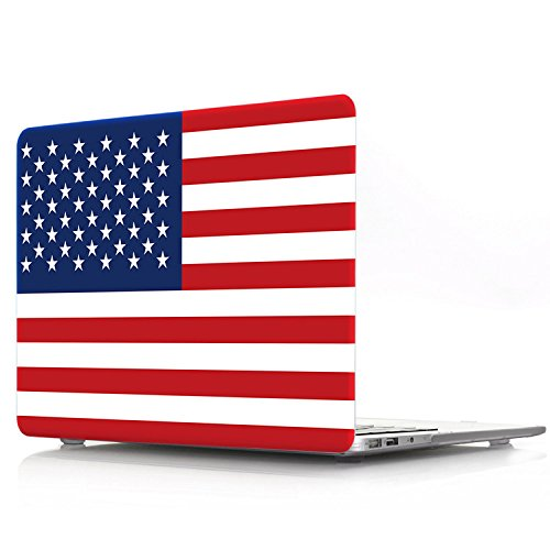 Litop United States Flag Laptop Body Shell Protective Hard Case Print Frosted for Apple MacBook Pro 13.3