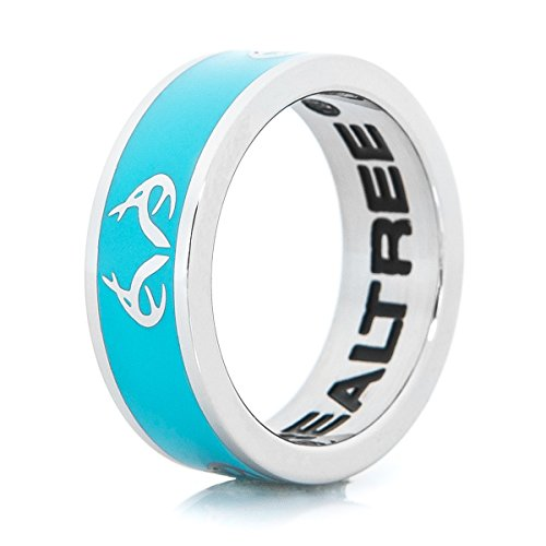 Apg Arrows (Ladies Realtree Logo Ring Turquoise with Antler design Stainless Steel Womens (8))