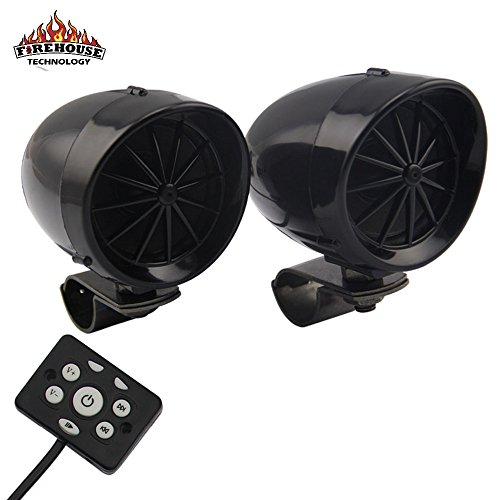 "Boost Bluetooth Motorcycle Stereo Speaker System. 3"" Speaker, Built in Amp, Simple Install on all Bikes and ATV (Black)"