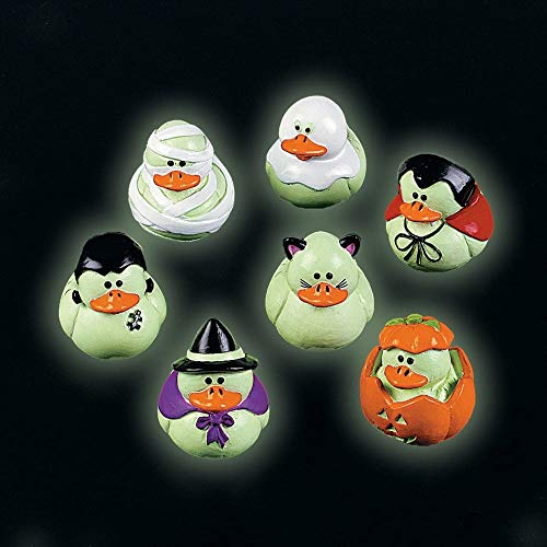 Fun Express Mini Glow-in-The-Dark Halloween Rubber Duckies - Party and Events]()