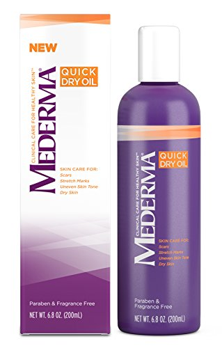 Mederma Quick Dry Oil - for scars, stretch marks, uneven skin tone and dry skin - #1 scar care brand - fragrance-free, paraben-free - 6.8 ounce