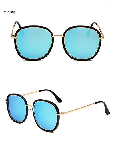 vintage bords à Bleu CHshop arrondis et Lunettes de soleil Noir qwaXnxt1RI