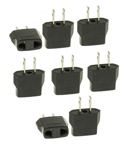 Tmvel Asia or European to USA American Electrical international Power Wall Outlet Travel Plug Adapter Socket - 8 PCS Europe to (Pc Usa Adapter)