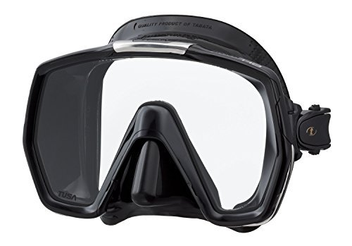 Tusa M-1001 Freedom HD Scuba Diving Mask, Black/Black