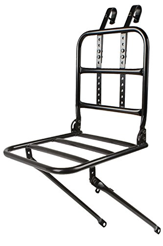 Ventura Frontal Wheel Carrier porta bultos delantero para bici holandesa en color negro y con madera es muy chulo