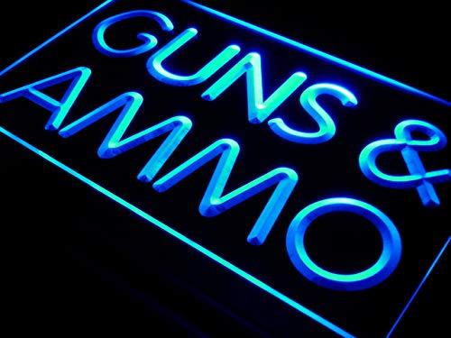 ADVPRO Guns & Ammo Shop Display Lure LED Neon Sign Blue 24