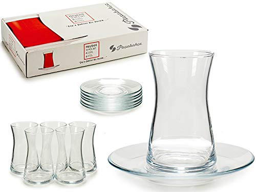 TU TENDENCIA UNICA Juego de 6 Vasos de Cristal de 160 CC para Infusiones, Te o Cafe Muy Resistentes