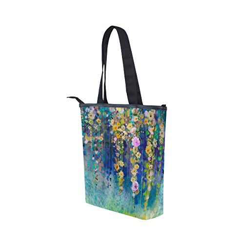 Spring Womens Shoulder Abstract Handbag Tote Floral MyDaily Canvas Flowers Watercolor Bag x4E0I