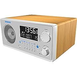 Sangean WR-22SE AM/FM-RDS/Bluetooth/USB Table-Top Digital Tuning Receiver w/Remote Control (Light Walnut) Special Edition