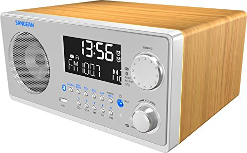 Sangean WR-22SE AM/FM-RDS/Bluetooth/USB Table-Top Digital Tuning Receiver w/Remote Control (Light Walnut) Special Edition