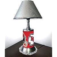 Portland Trail Blazers Lamp with Chrome Colored Shade Rico Table Lamp with Chrome Colored Shade