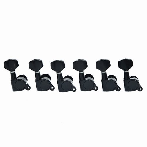 - Kmise A0163 6 Piece 6R Acoustic Guitar Tuning Pegs Machine Head Tuners, Black