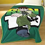 Ben 10 Fleece Blanket, Green, 125 x 150 Cm [Toy]