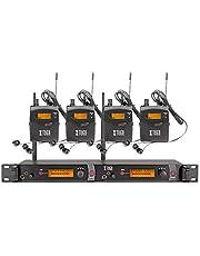 XTUGA RW2080 Rocket Audio Sistema de monitor de oído inalámbrico de metal, 2 canales, 4 Bodypack Monitoreo con auriculares tipo inalámbrico utilizado para escenario o estudio