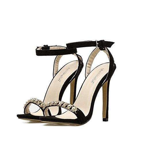 Shallow Sandali Tacco da Fine Bocca New Scarpe Col Sexy Diamond Ladies Alto Exing Fish con Donna Bouth Summer 6wYxaq