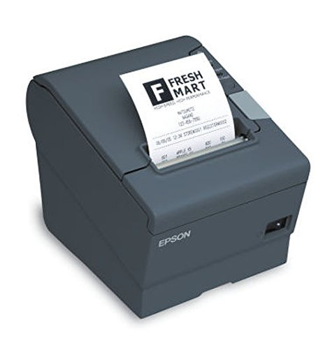 - Epson C31CD52A9992 TM-T20II POS Thermal Receipt Printer USBEthernet Power Supply CAT5 Cable Dark Gray