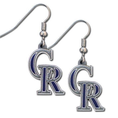 Mlb Teams Logos - MLB Team Logo Hypoallergenic Dangle Earrings (Colorado Rockies)