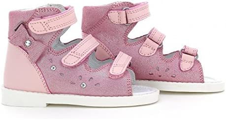 Toddler//Little Kid Bartek Girls Orthopedic Leather High Sandals with Arch and Ankle Support Pearl Pink 81803//1ET