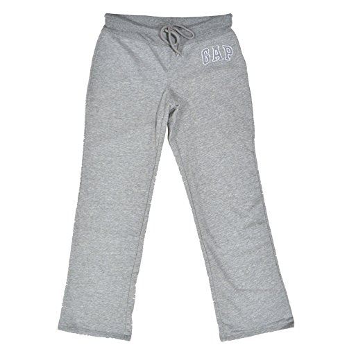 - Gap Womens Fleece Arch Logo Sweatpants (New Grey, Small)