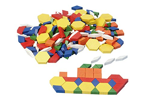 Excellerations Wood Pattern Blocks - 250 Pieces (Item # - Piece Wood 250