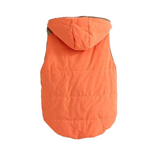 Gilet Caldo Gilet Cappuccio Superiore Giacca Pile In Gilet Maniche Arancione Donne Senza Con Veryco Cappuccio Con 5w4zqf5