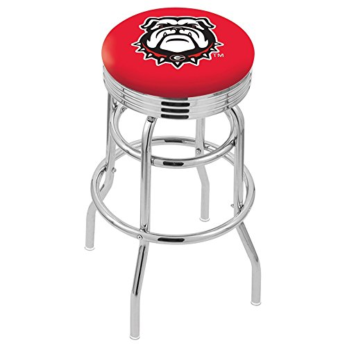"NCAA Georgia Bulldogs ""Bulldog"" Logo 30"" Bar Stool"
