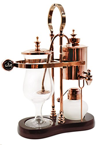 Diguo Belgian/Belgium Luxury Royal Family Balance Syphon Coffee Maker. Elegant Retro-Style Design. Color Rose Golden. Capacity: 500ml/17 oz.