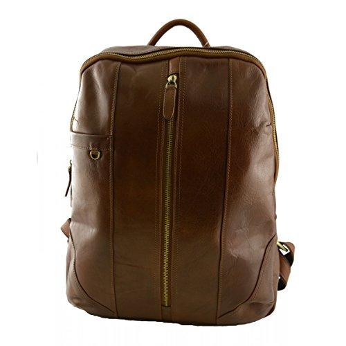 768ba3d92ecd4 Rucksack Aus Echtem Leder Farbe Braun - Italienische Lederwaren - Rucksack