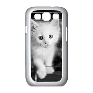 Samsung Galaxy S3 Cases White Kitten 2, Samsung Galaxy S3 Cases White Cat Protective for Girls, [White]