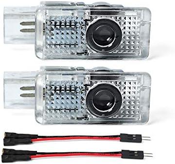 Lot de 2 /éclairages de logo haute d/éfinition pour porti/ère de voiture A1 A3 A4 A5 A6 A8 Q3 Q5 Q7 TT RS