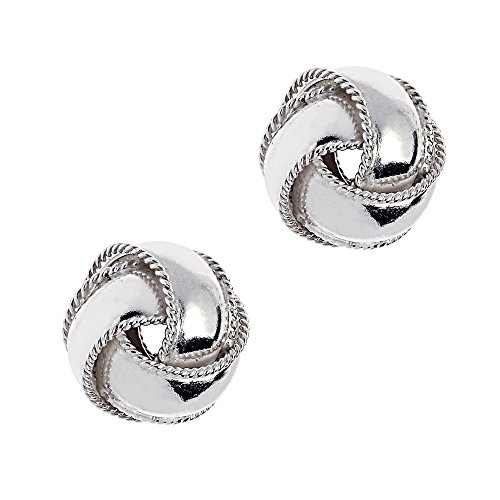 Sterling Silver Love Knot Loveknot Stud Earrings 7 Mm Small -
